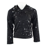 Long Sleeve Hacci Hoody with Star