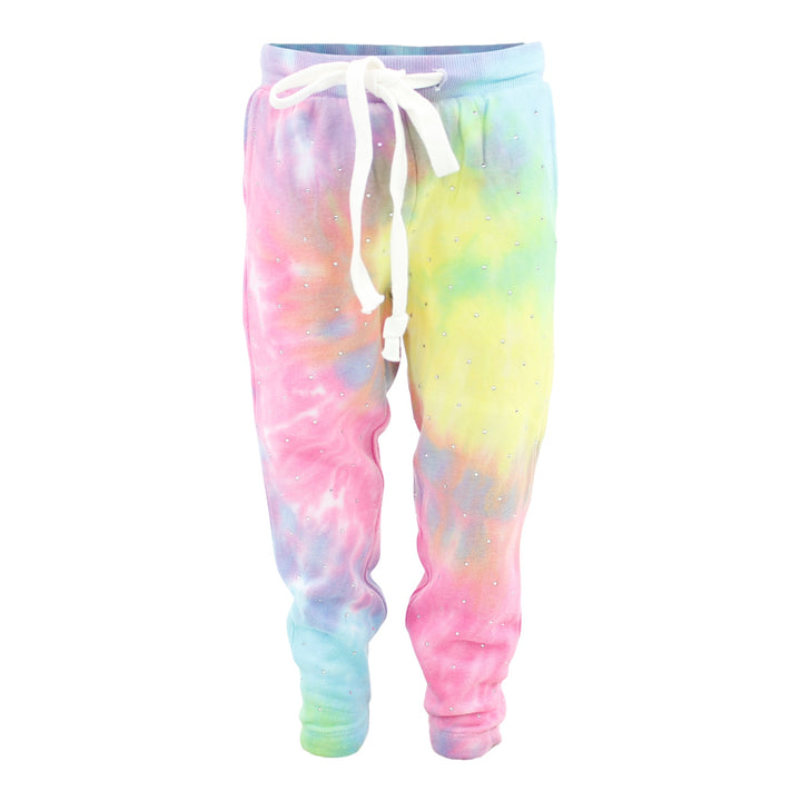 Sweatpant Tie Dye Rizzo with All Over Rhinestones