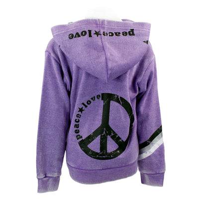 Zip Jacket with Peace Love