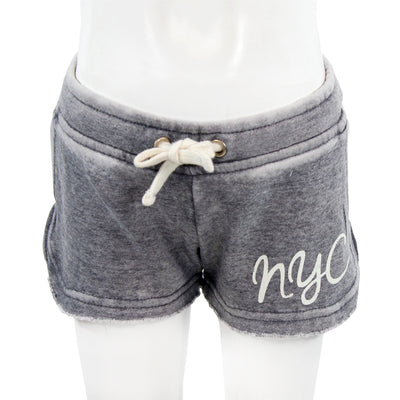 White NYC On Top Burnout Short