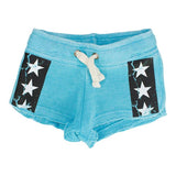 Burnout Fleece Short with Stripe Stars