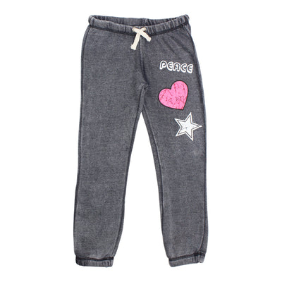 Sweatpant with Peace Heart Star
