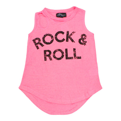 Burnout Slash Neck Tank with Rock and Roll