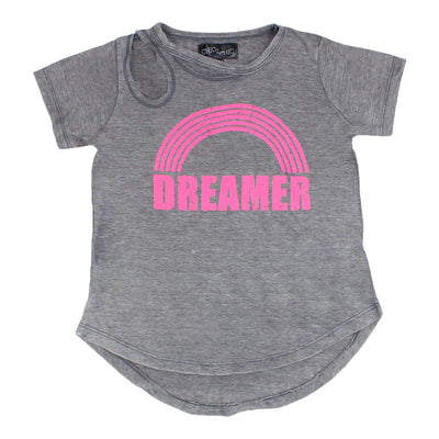 Short Sleeve Cutout Tee with Dreamer