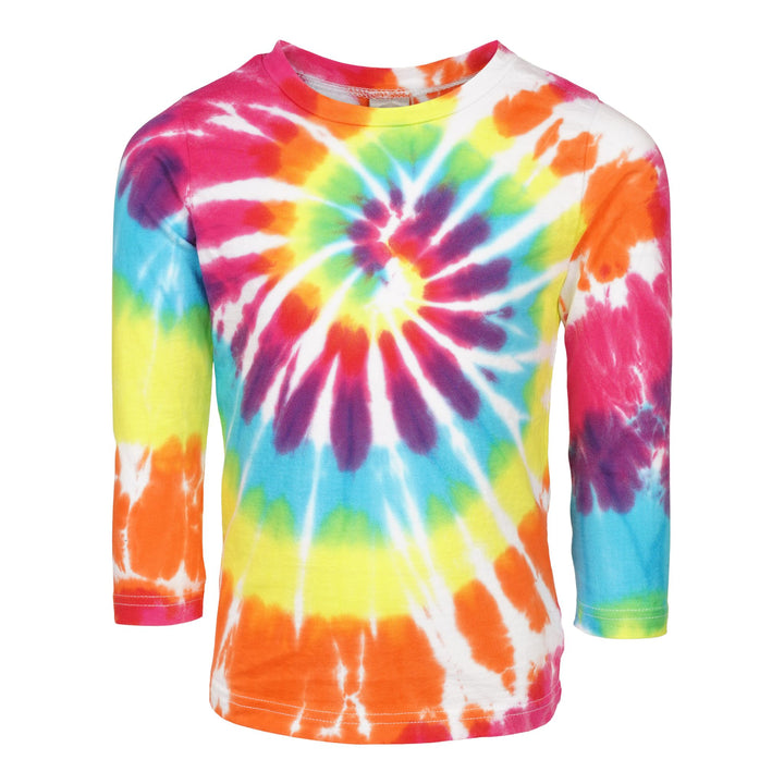 Brite Swirl Multi Tie Dye Long Sleeve Shirt