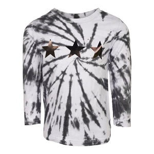 Spider Tie Dye Star and Stone Long Sleeve Tee
