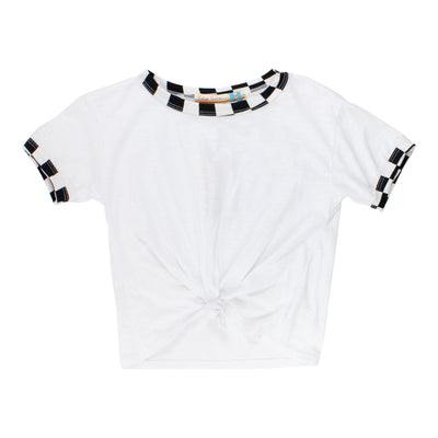 Tee With Checker Board Taping