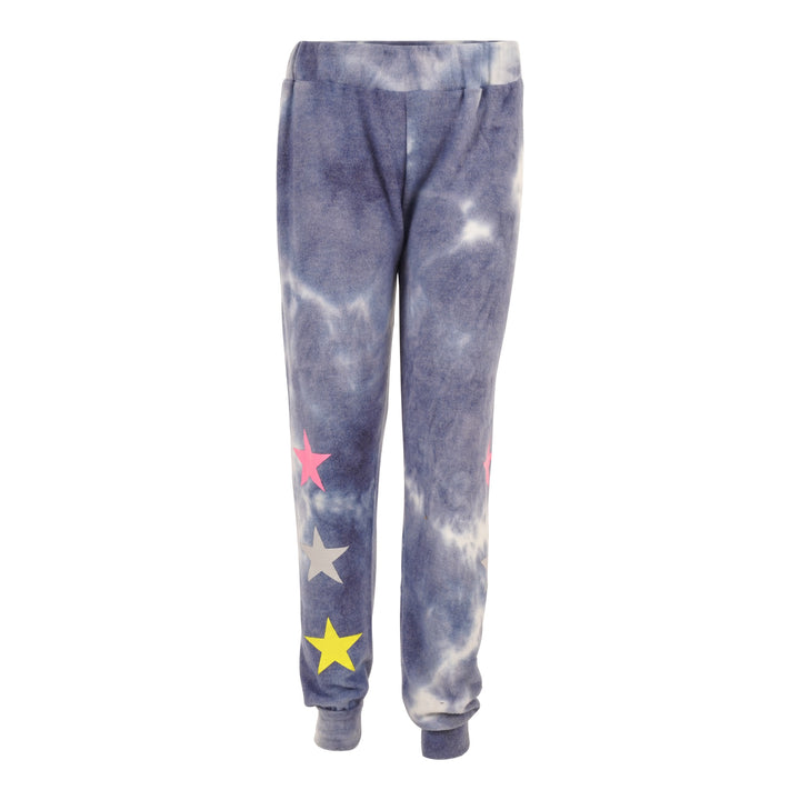 Brushed Tie Dye Jogger with Stars