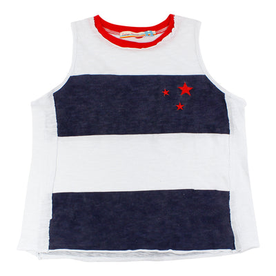 Color Block Tank With Stars