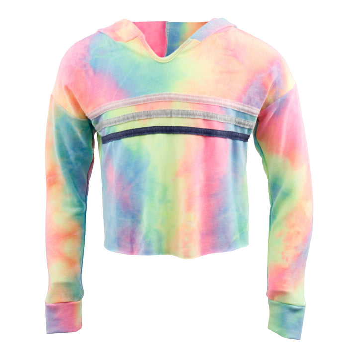 Rainbow Pullover Hoody w Chest Stripes