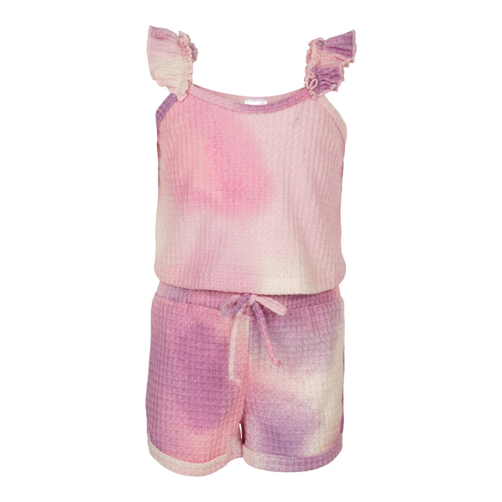 2pc Tie Dye Pink/Purple Tank & Short Set