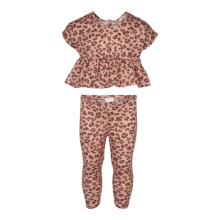 2pc Leopard Legging and Top Set