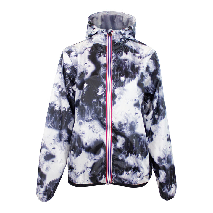 Oil Tie Dye Nylon Zip Jacket