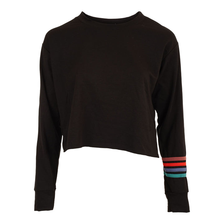 Crop Sweatshirt with Piping