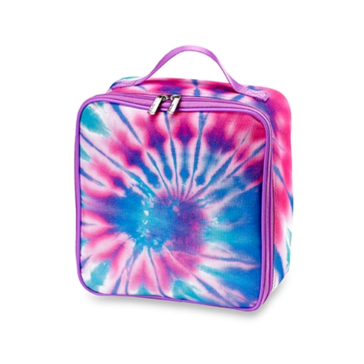 Pastel Tie Dye Pink and Blue Lunch Bag