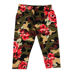Soft Camo Legging with Roses