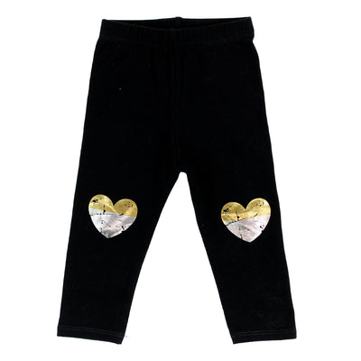 Legging WIth Silver and Gold Heart