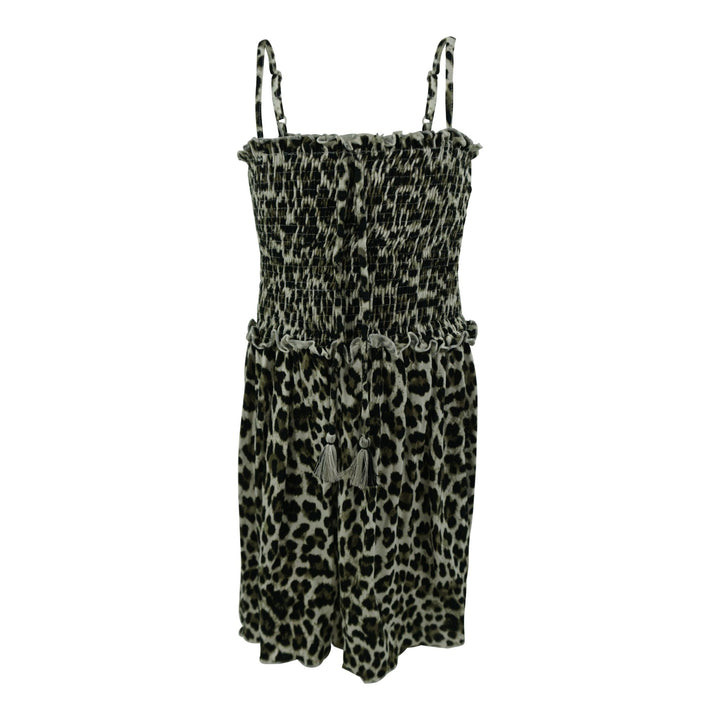 Smocked Top Dress Leopard