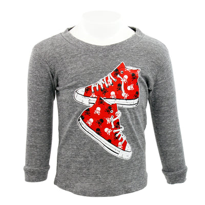 Long Sleeve Tee Sneaker Skull
