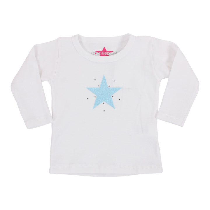 Long Sleeve Tee with Blue Star