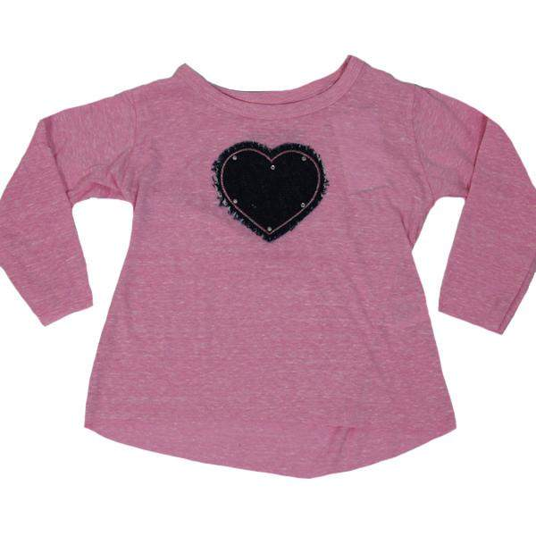 Long Sleeve Tee Denim Heart