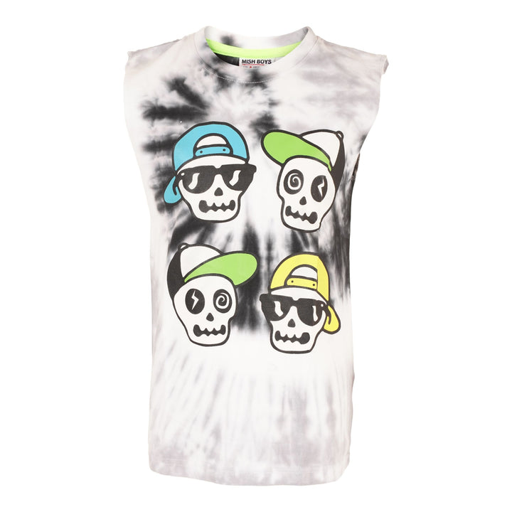 Sleeveless Tee with Skull Dudes