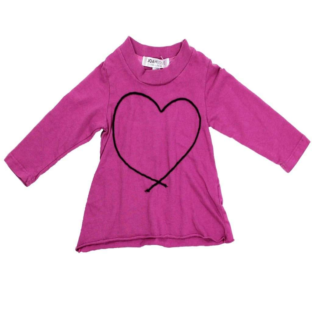 Magenta Heart Long Sleeve Tee
