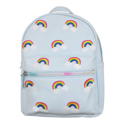 Rainbow Embroidered Mini Backpack