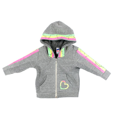 Hoody with Stripe and Heart
