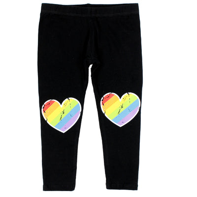 Legging With Stripe Heart