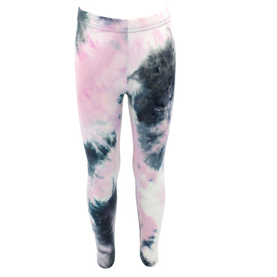 Pink Black Tie Dye Soft Legging