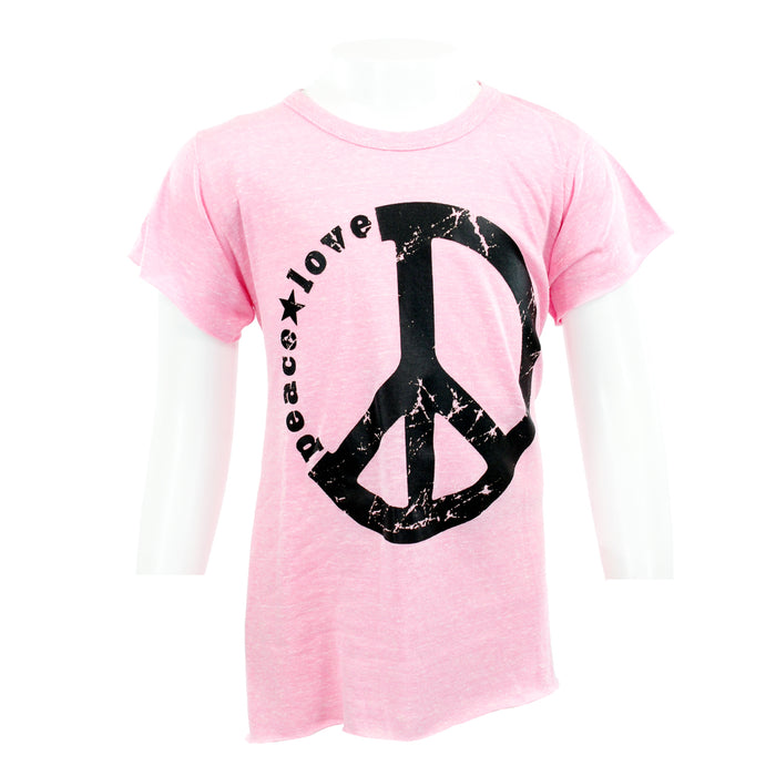 S/S HIGH LOW W/ PEACE LOVE