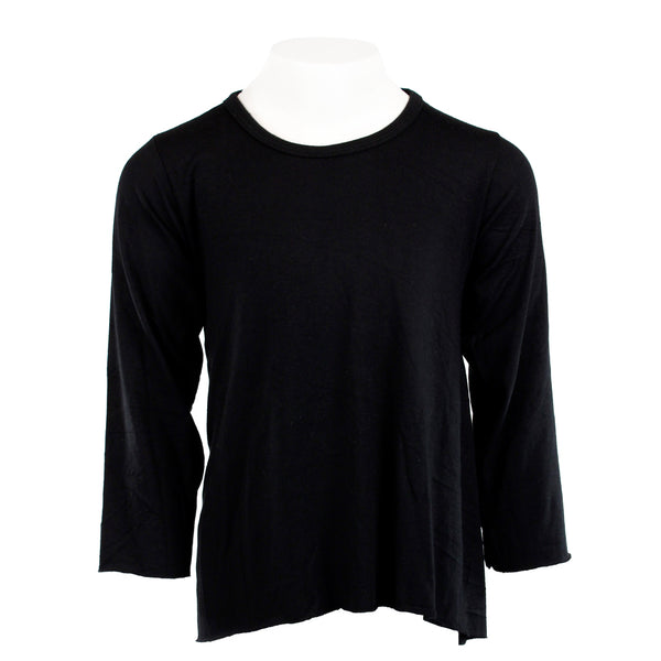 Long Sleeve Hi Lo Solid Top