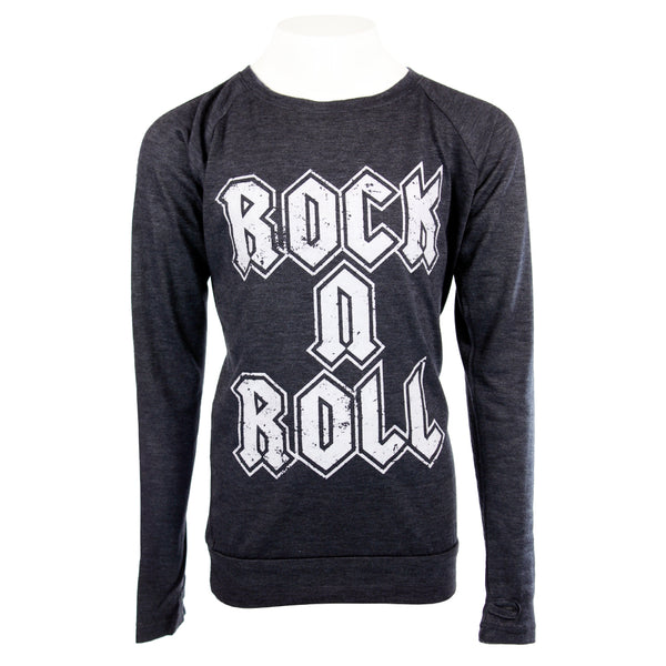 Long Sleeve Banded Top with Rock n Roll
