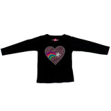 Long Sleeve Tee Rainbow Heart
