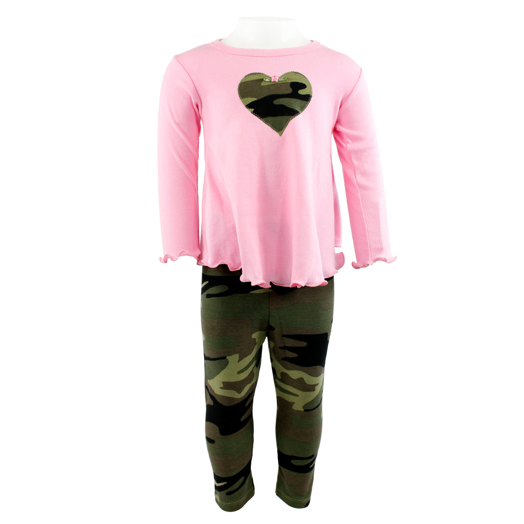2pc Swing Set Rose with Camo Legging
