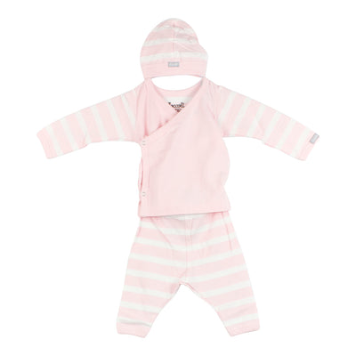 Three Piece Take Home Pink Stripe