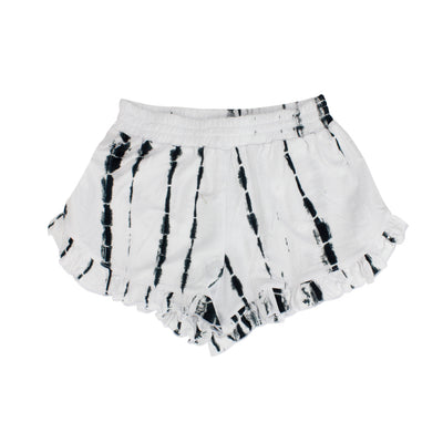 Black and White Tie Dye Ruffle Short