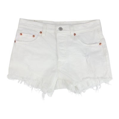 501 Cut Off White Short