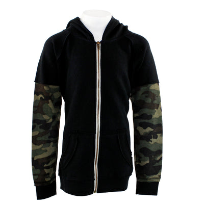 Camo Thermal Sleeve Full Zip Hoody