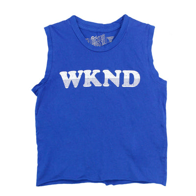 Crop Muscle Tee with Weekend