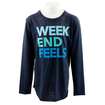Long Sleeve Top with Weekend Feels