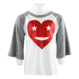 Starry Eyed Baseball Tee Red Heart
