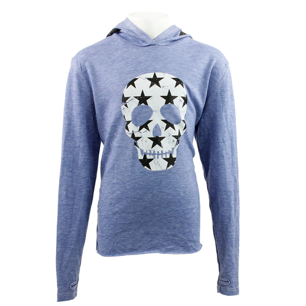 Long Sleeve Hoody with Skull and Star