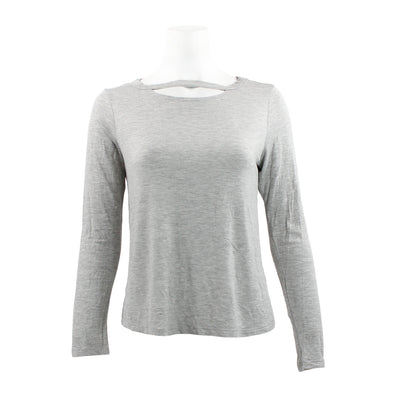 Long Sleeve Solid Cut Neck Crew