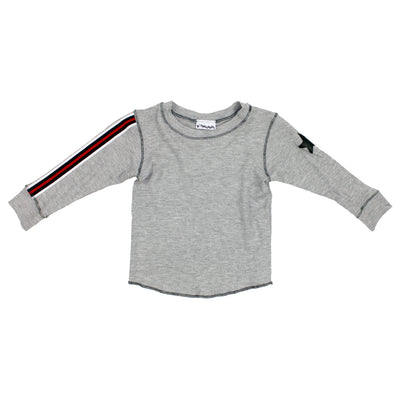Long Sleeve Thermal Stripe Sleeve and Star