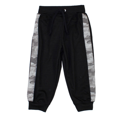 Black Sweatpant Camo Stripe