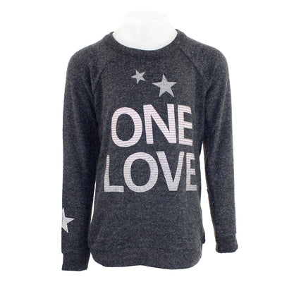 Long Sleeve Hacci One Love Metallic