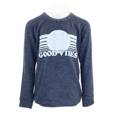 Long Sleeve Top Good Vibes Hacci