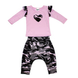 Two Piece Camo Harem Pant Set